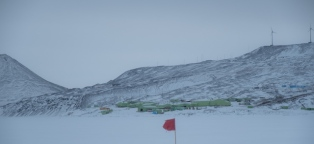 Scott Base today - quite a lot of snow for this tie of the year