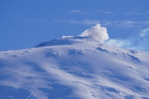 Mt. Erebus very active crater