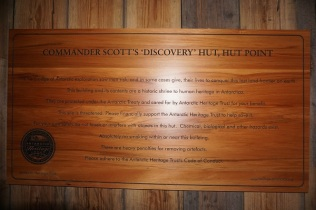 The Antarctic Heritage Trust's sign