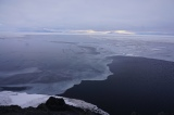 A polynia and sea ice