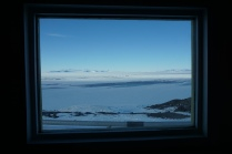 Antarctica - where a window looks like a painting