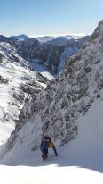 Perfect ice-climbing conditions
