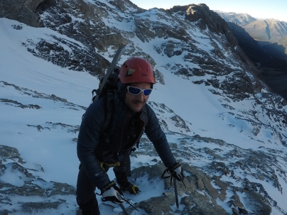 Stepan just before stepping onto the glacier