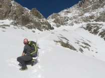 Down the Otira Slide after avalanche gully