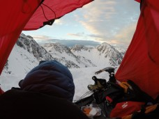 The view out of the tent