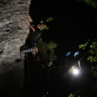 Nightclimbing at Globewall