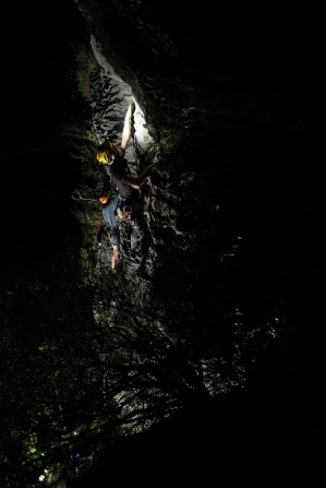 Simul-climbing at our last route