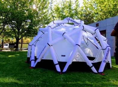 Our radar tent